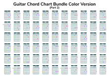 Guitar Chart Bundle Vector Can You Use For Web, App, Lesson, School Etc.