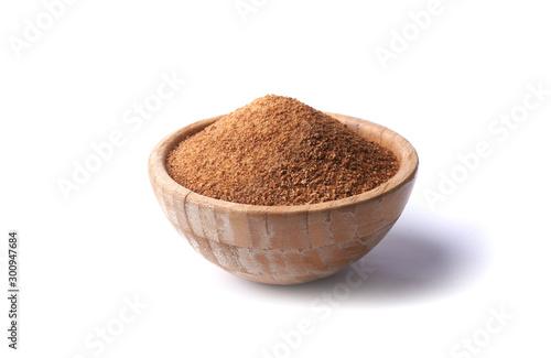 Fototapeta bowl with coconut sugar obraz