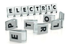 ELECTRIC Word Written On Gloss...