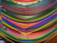 Closeup Photo Of Multicolored Hammocks