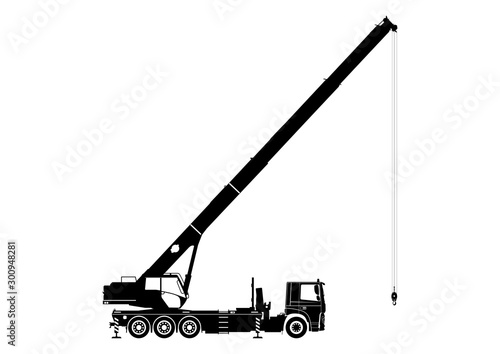 Mobile crane Canvas Print