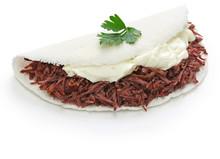 Tapioca Crepe , Carne Seca, Brazillian Food