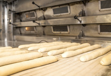 French Baguettes Set On The Ba...