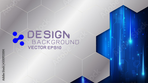 Vector design trendy and digital technology concept Wallpaper Mural