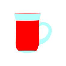 Vector Illustration Of A Turkish Tea Glass On White