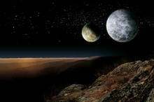 Alien Planet Two Moons