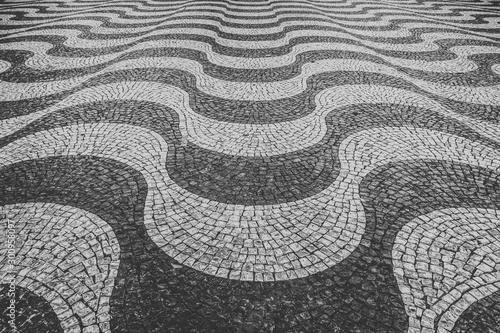 Black and White Portuguese sidewalk