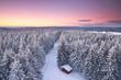 canvas print picture - weiße Weihnachten