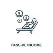 Passive Income icon outline style. Thin line creative Passive Income icon for logo, graphic design and more