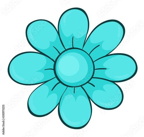 Tuinposter Kids Single flower in blue color