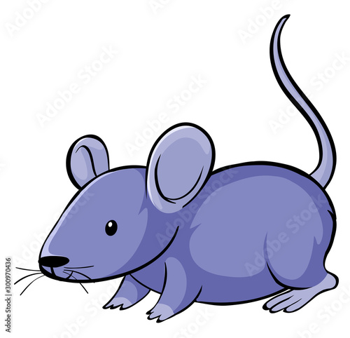 Papiers peints Jeunes enfants Purple mouse on white background
