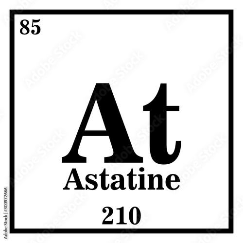 Photo Astatine Periodic Table of the Elements Vector illustration eps 10