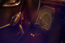 Old Car Wheel And Dashboard Cl...