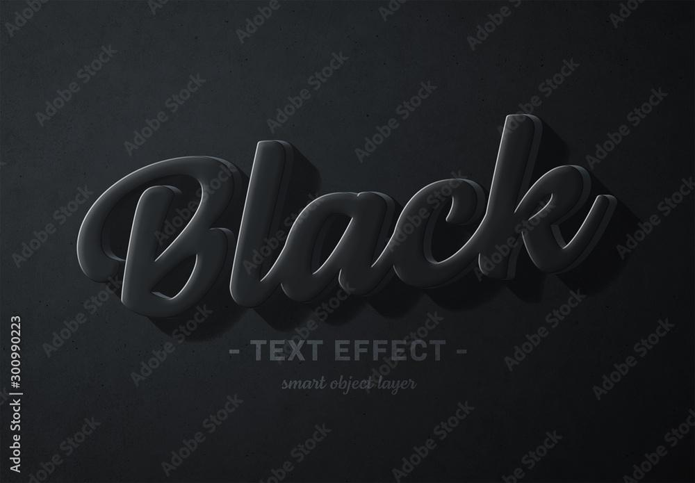 Fototapety, obrazy: Black 3D Text Effect