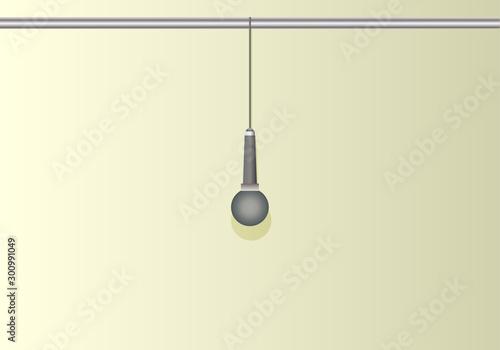 Micrófono colgado de una barra para un estudio. Wallpaper Mural
