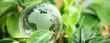 Leinwandbild Motiv green earth concept glass sphere