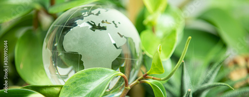 plakat green earth concept glass sphere