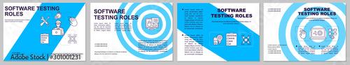 Fotomural  Software testing roles horizontal brochure template