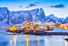 Sakrisoy Village On Lofoten Is...