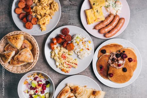 Valokuva  Healthy breakfast on table