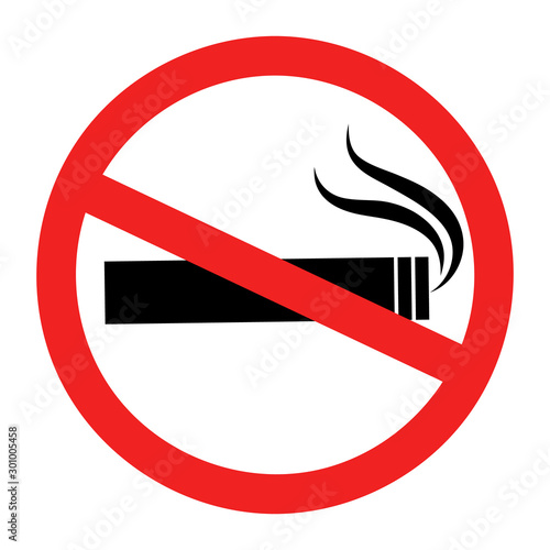 Foto op Canvas Rook No smoking sign
