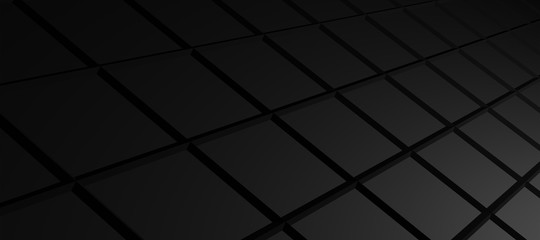 abstract black 3d box background, 3d illustration and wallpaper
