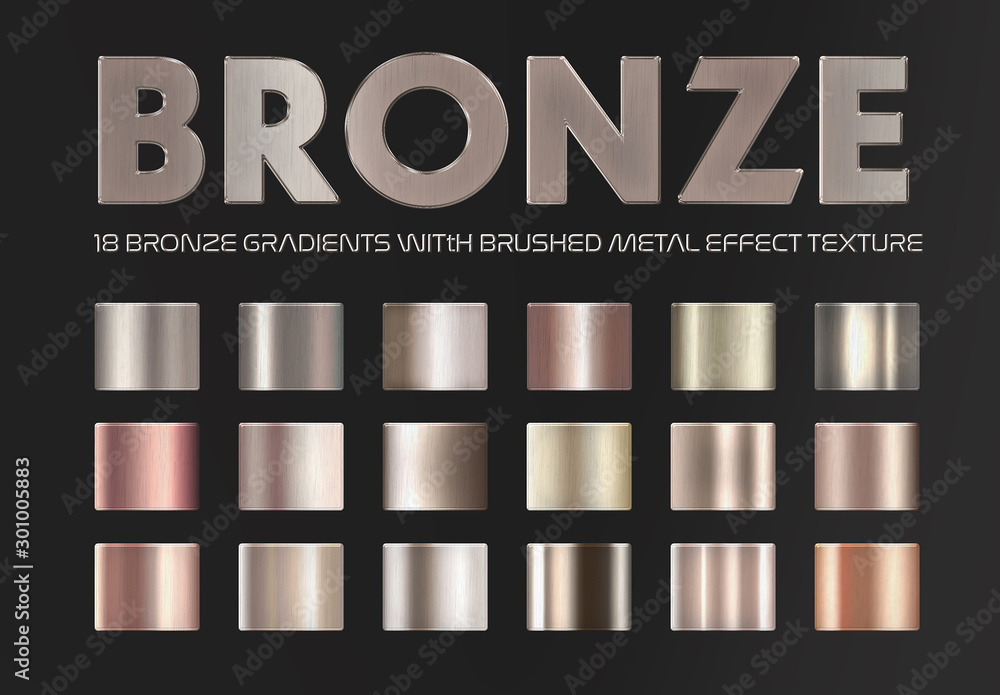 Fototapety, obrazy: Bronze and Copper Gradient Text Effects
