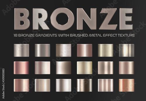 Fototapeta Bronze and Copper Gradient Text Effects obraz