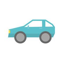 Isolated Car Icon Flat Design