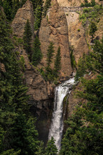 Tower Falls Waterfall, Yellows...