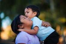Siblings Hug And Embrace Each ...