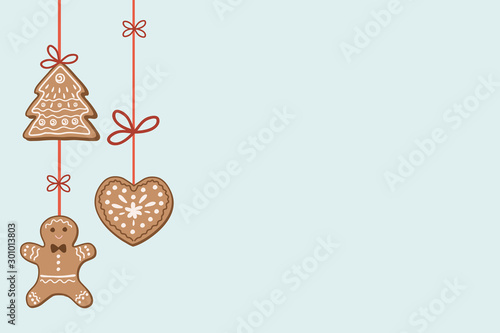 Christmas background with decorations Wallpaper Mural