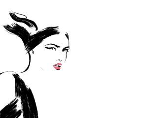 Sketch fashion.Abstract sim...
