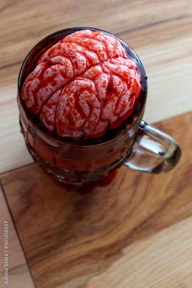 Fototapety, obrazy: Alcoholic Beer Brain Addiction