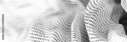 Obraz Infinite random numbers 3d rendering, original background, technology and science concepts - fototapety do salonu