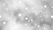 Winter light background with sparkles and snowflakes. Christmas and New Year Copy space animation.