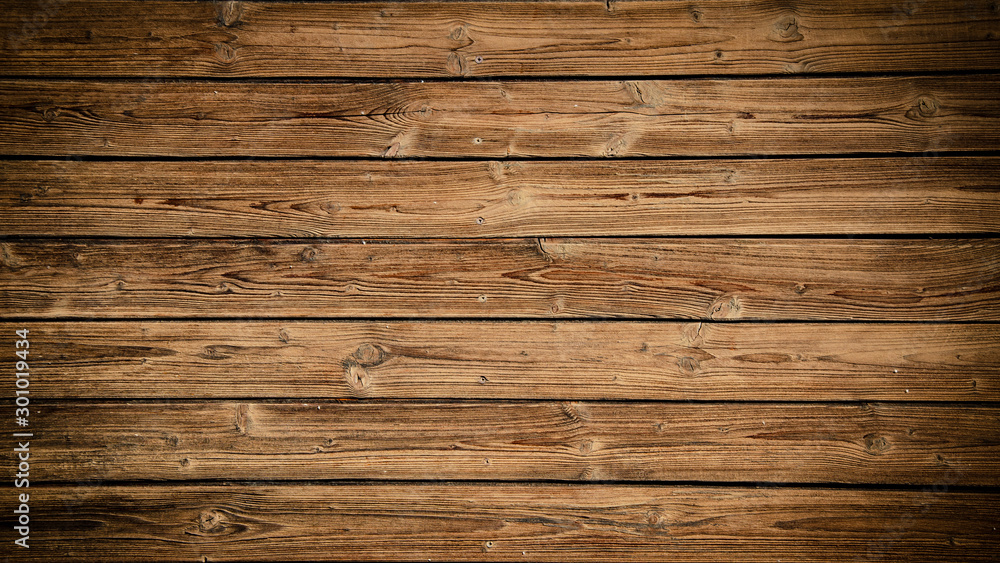 Fototapety, obrazy: old brown rustic dark grunge wooden texture - wood background panorama long banner