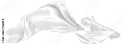 Photo Abstract background of white wavy silk or satin