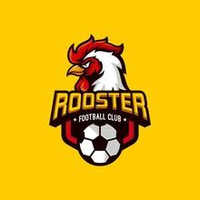 Rooster Mascot Sport Logo Design Vector Illustration
