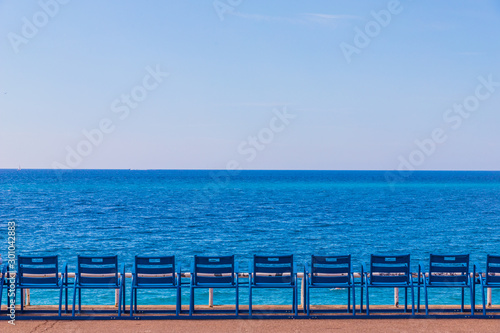 Photo A view in Nice in Cote d Azur in France