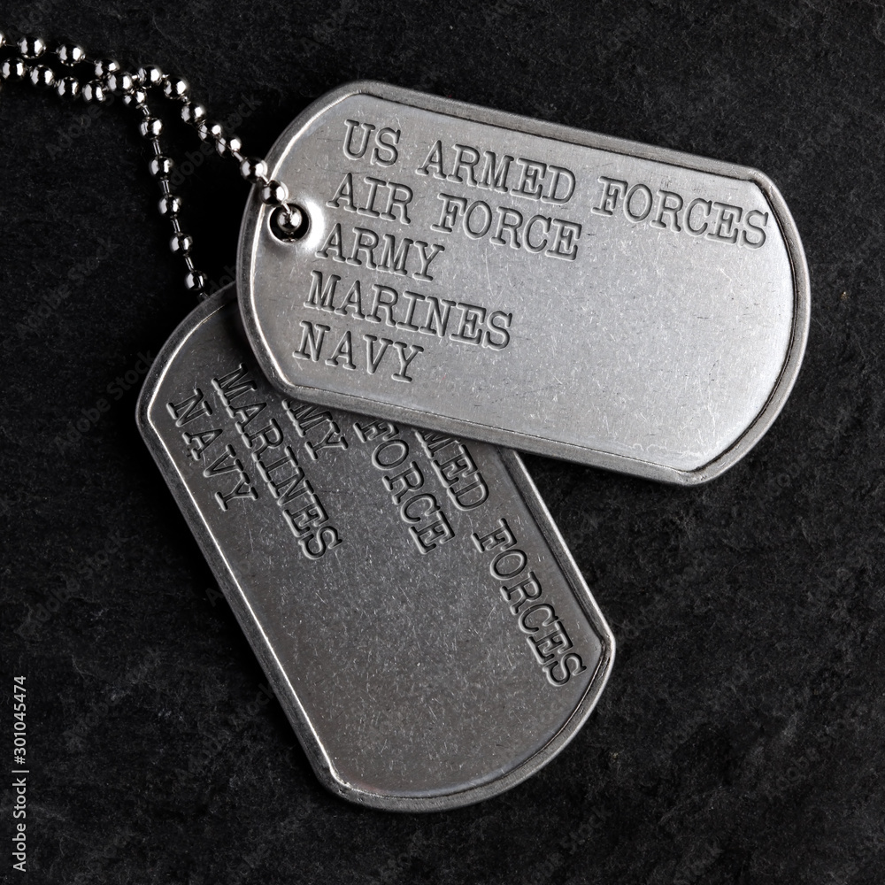 Fototapety, obrazy: Old military dog tags