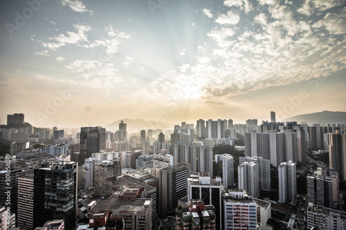 Obraz Hong Kong's dense urban and architectural landscape - fototapety do salonu