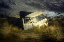 Broken Truck In The Field, Sta...