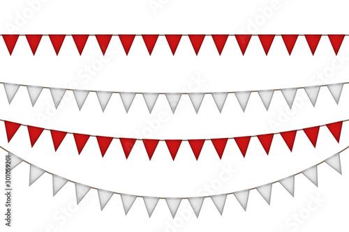 Fotografie, Obraz  Flag garland for carnival