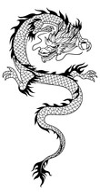 Black White Illustration Chine...