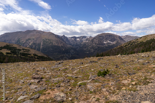 Mountains at High Elevation in Rocky Mountain National Park Colorado