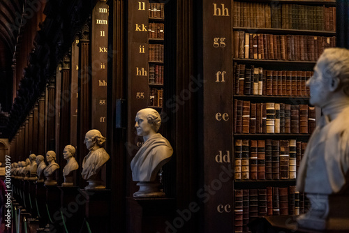 DUBLIN, IRELAND, DECEMBER 21, 2018: The Long Room in the Trinity College Library, home to The Book of Kells Canvas Print
