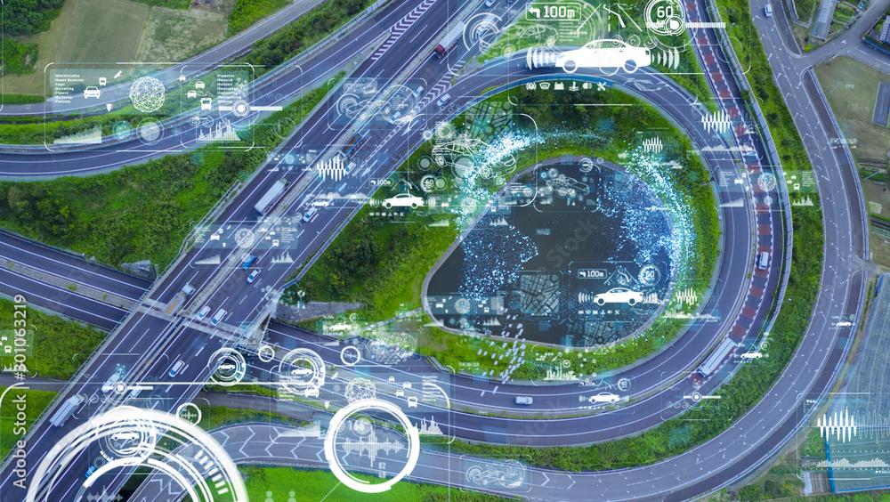 Fototapety, obrazy: 交通ネットワーク