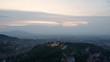 4K Brasov Romania Drone Aerial Sunset Medieval Brasov Citadel Aerial Footage