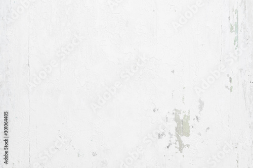 Fototapety, obrazy: White grunge rusty painted urban texture on wood background